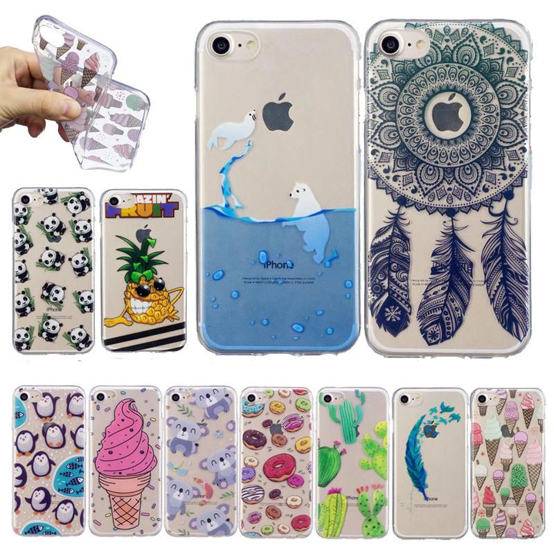 cute iphone 5 cases for girls clear summer soft tpu for iphone 8 7 6s 6 2867