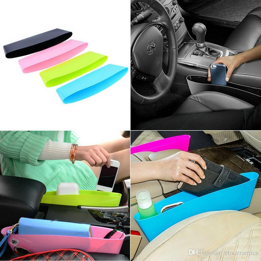 Auto Car Seat Gap Pocket Catcher Organizer Leak-Proof Storage Box New organizador de asiento trasero black color