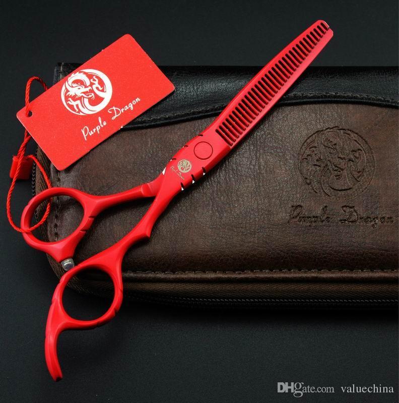 taglio di capelli forbici 5.5 POLLICE nero rosso bianco Viola taglio o assottigliamento in magazzino a buon mercato 1 PZ / LOTTO spedizione gratuita NUOVO