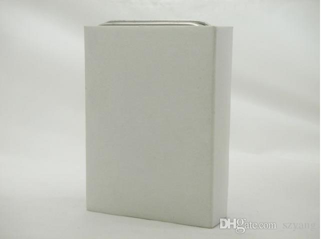 Nouvelle boîte en métal argenté luxueuse pour un coffret cadeau au briquet à l'huile au meilleur prix