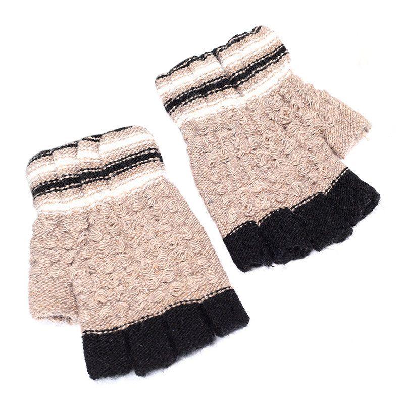 Half Finger Gloves Baby Winter Gloves For Kids Fingerless Warm