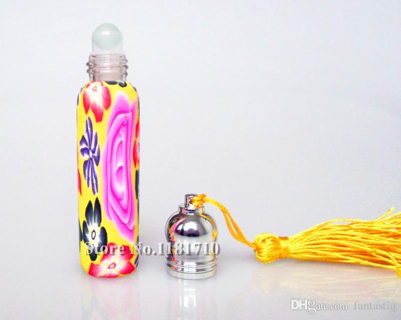 Оптовая 10 мл ролл на бутылки многоразового флаконы для духов пустой бутылки полимерной глины эфирные масла