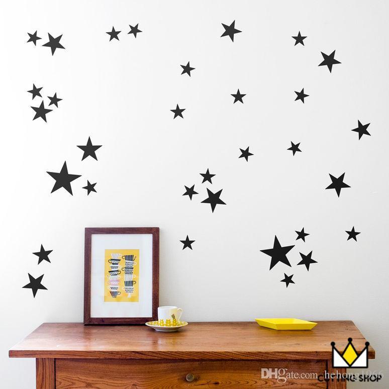 wall stickers stars pattern art decals diy creative decoration