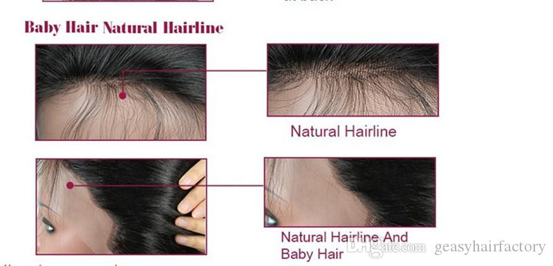 Indian Virgin Hair Full Lace Wigs Wet and Wavy Lace Front Human Hair Wigs With Natural Hairline LaurieJ Hair