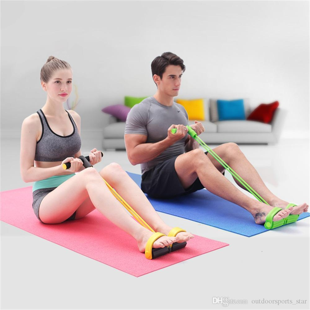 2019 Fitness Resistance Band Yoga Stripes Rope Tube Elastic Exercise Equipment For Yoga Pilates Workout Latex Tube Pull Rope From Outdoorsports_star
