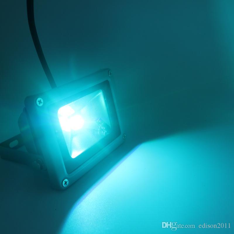 10W su geçirmez Projektör Peyzaj Lambası RGB LED Taşkın Işık Açık LED Sel Lambası / ÜCRETSİZ Gemi