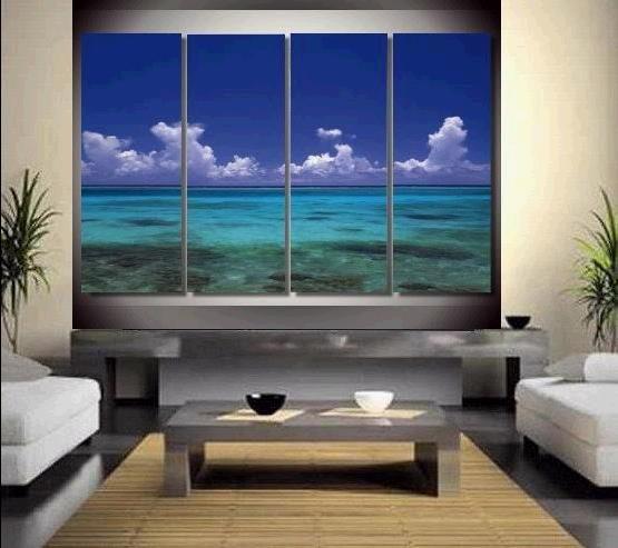 Gerahmte Kostenloser Versand Riesige handgemalte Seascape Ölgemälde auf Leinwand Home Wanddekorkunst Moderne Abstrakte Gemälde Multi größen R519