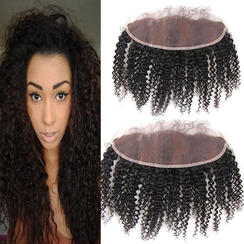 Cambodian Virgin Hair Curly Lace Frontal Closure 13*4 Free Part Cheap Unprocessed Human Hair Ear To Ear Swiss Lace Closure With Baby Hair