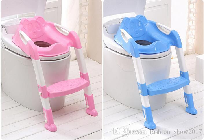 03b24425dff Baby Potty Training Kids Toilet Seat Travel Potty Chair Safety Ladder Baby  Potty Chair Non-Slip Toilet Seat Foldable Chairs