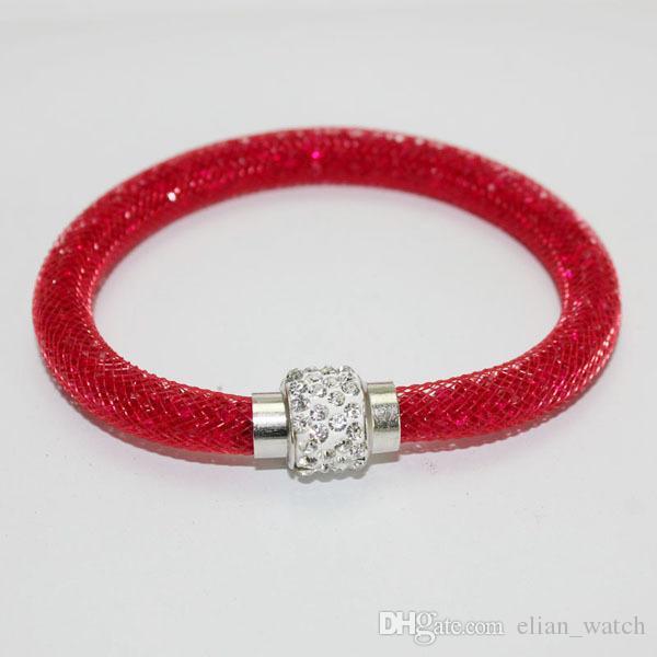 2017 New Wrap Crystal Wire Mesh Chain Bracelet Charm Bracelets pulsera mujer Rhinestone Women Bangle Fashion Jewelry