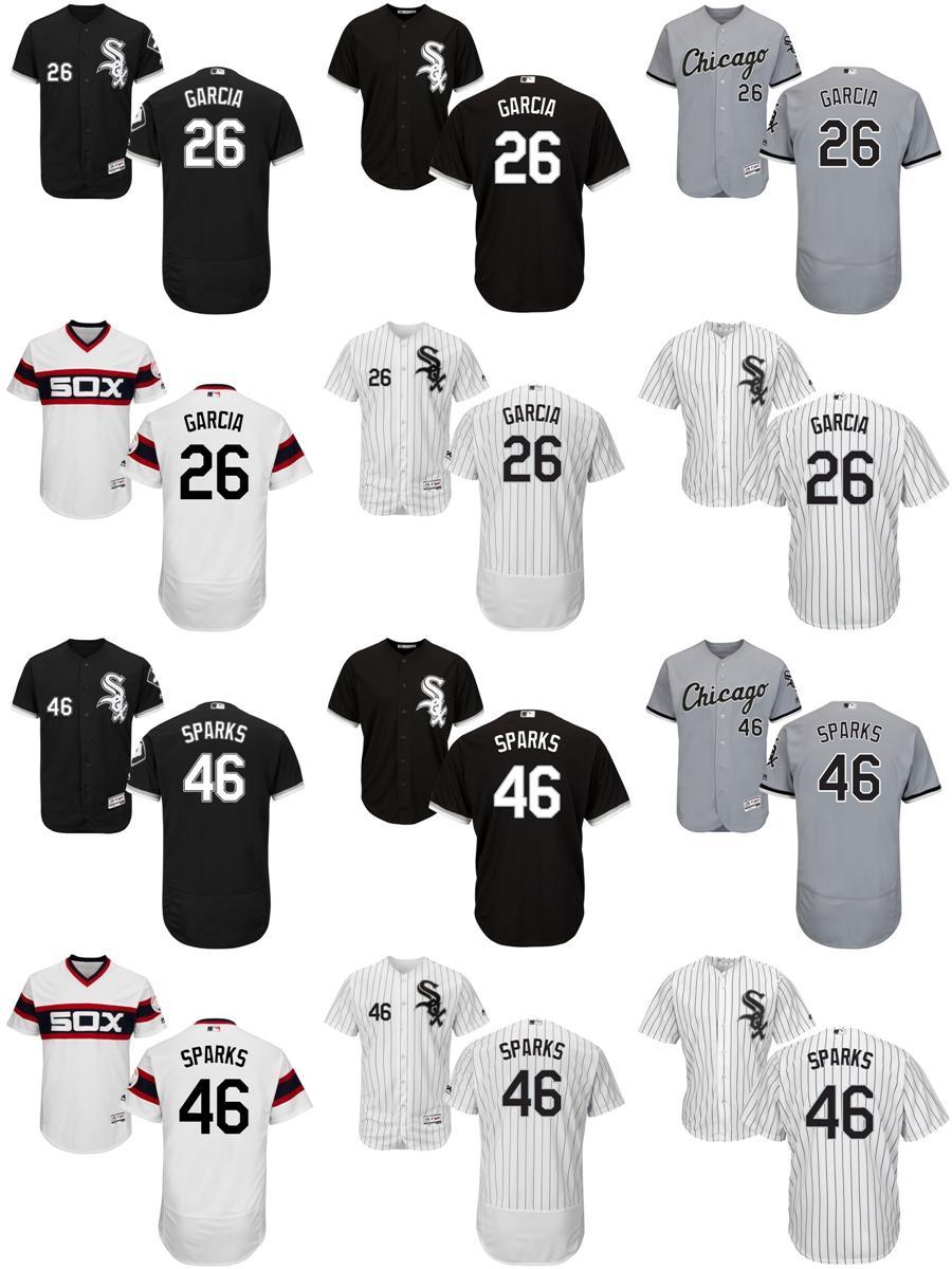 d5d92ac5aca ... 2017 Factory Outlet Mens Womens Kids Chicago White Sox 26 Avisail Garcia  46 Greg Sparks White ...