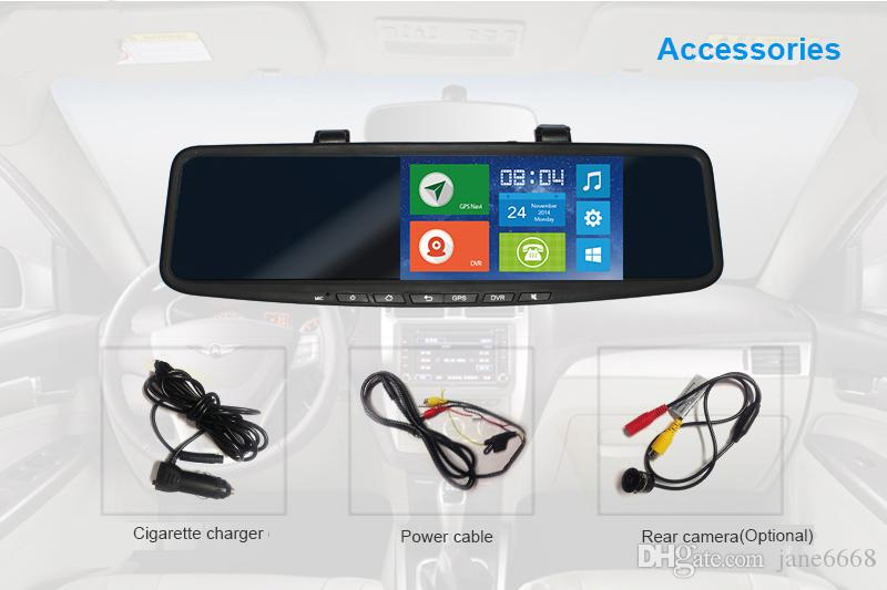 JC600 1080P 3G Android Mirror Camera Strap Version with WCDMA Dual-Band for Europe & Optional for HD Rearview Camera & TF Card