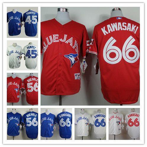 2017 top quality mens toronto blue jays baseball jersey mlb 45 dalton pompey 56 mark buehrle