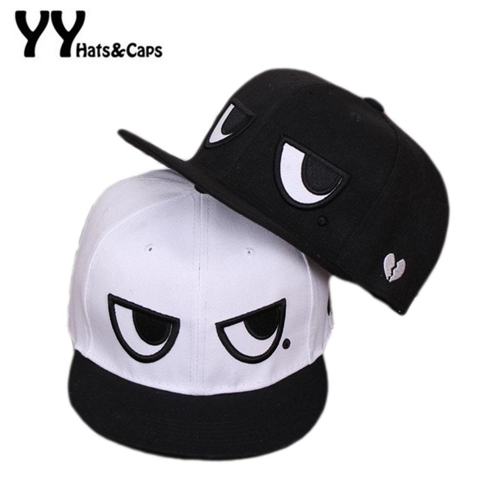 b87c3a5f92d 2016 Spring New Cotton Baseball Caps Men Women Solid Two Big Eyes Snapback  Hats Outdoor Sports Summer Sunhats Gorra De Beisbol Fitted Caps Black  Baseball ...