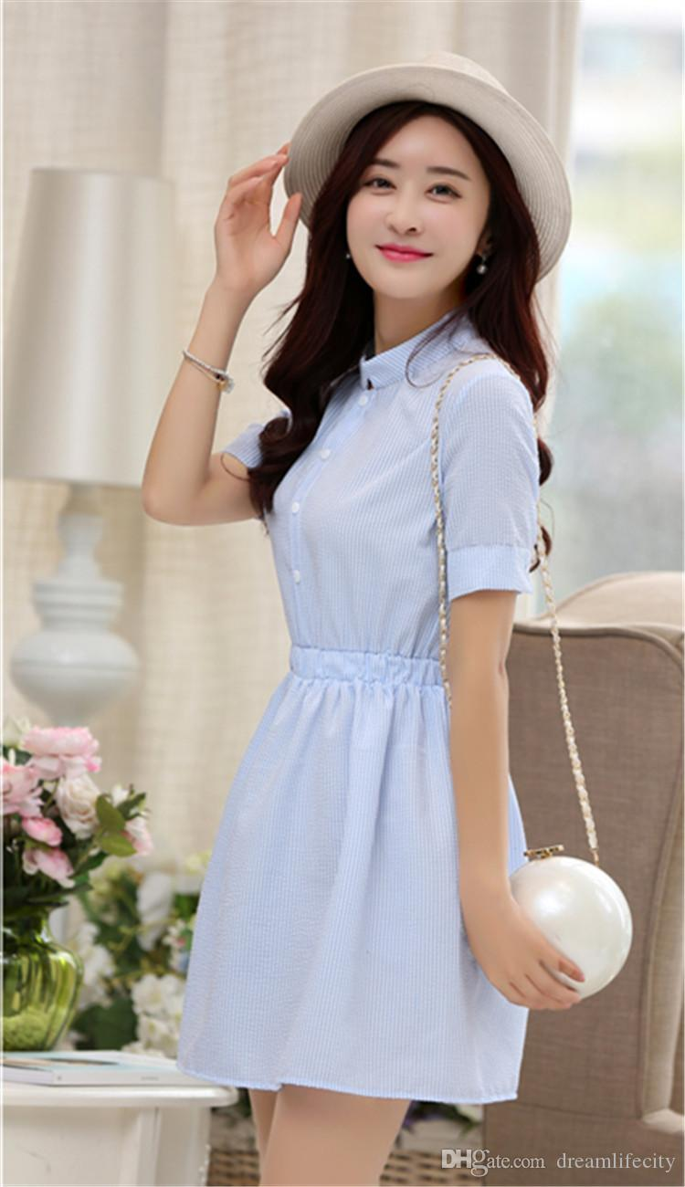 new spring shirt dress women summer dress 2017 fashion