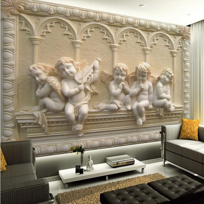 Wholesale removable 3d wall murals wallpaper with jade for 3d wallpapers for home interiors