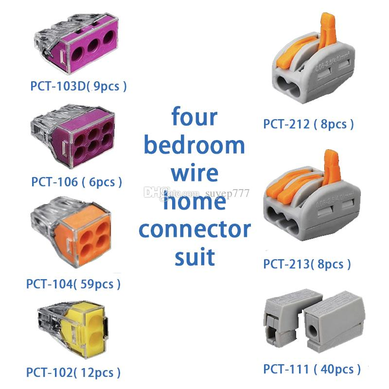 Push Wire Connector Lever Terminal Block PCT-212 222-412 2 Pin ...