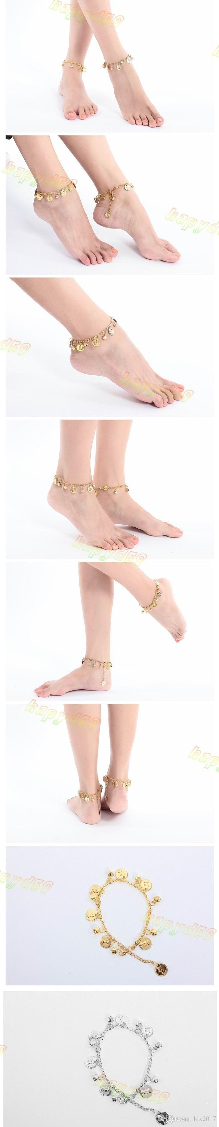 belly dance coin anklet Indian Gypsy dance Ankle chain Latin dancing anklets foot ornaments Dance clothing accessories