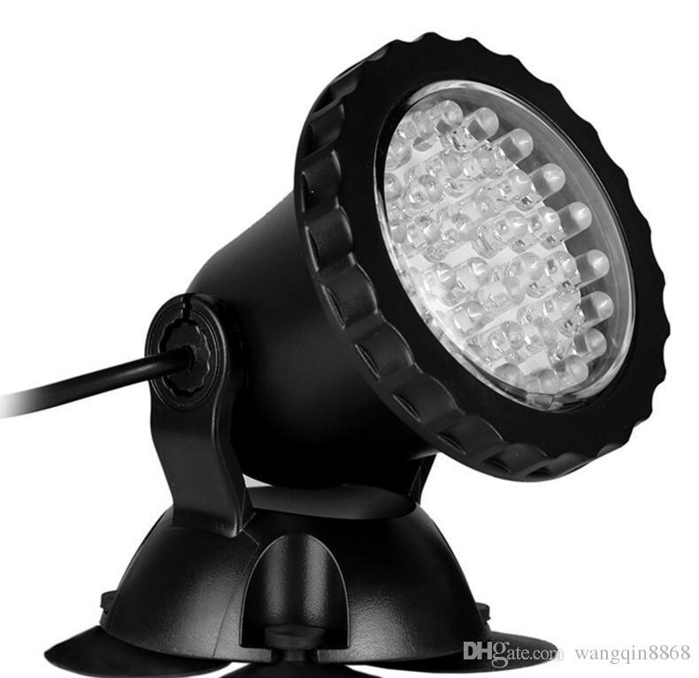 Fully Submersible 36 Leds Spotlight Bule Aquarium LED Light Pond Fountain Lamp waterproof Spot Light