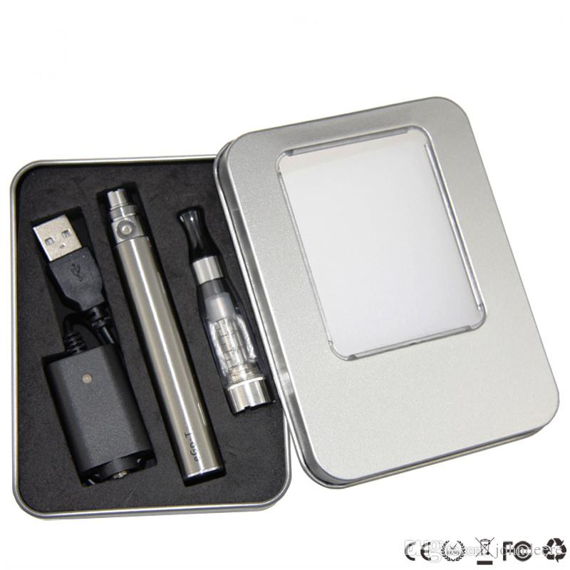 Hot EGo CE4 Electronic Cigarette Starter Kits CE4 Aluminum Box E Cigarette Kits CE4 e liquid Atomizer eGo-T Battery 650/900/1100mah