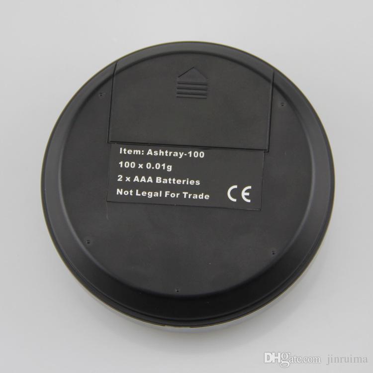 2017 new ashtray mini jewelry electronic scale 0.1g 0.01g precision portable powder tea table scales