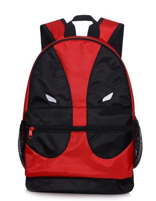 70f41b46e7fd Deadpool Cosplay Bag Travel Backpack Canvas Rucksacks School Zipper ...