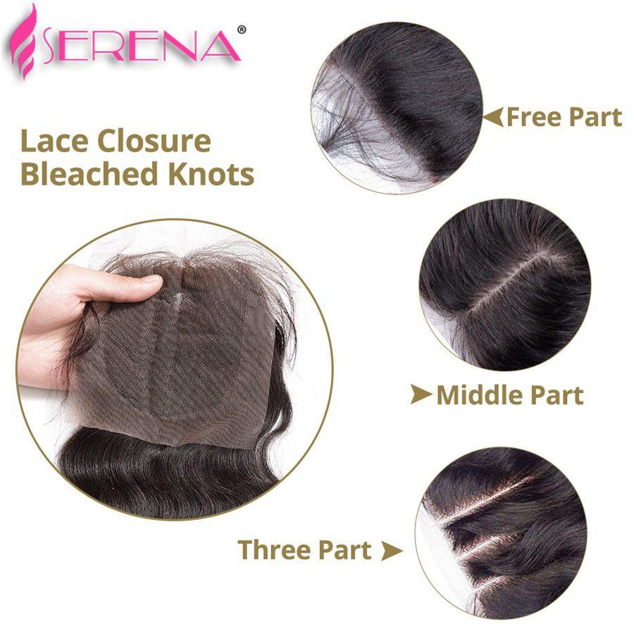 Queen Hair High quality Natural Color #1B body wave Malaysian virgin hair weave, Hair Bundle + Lace Closure