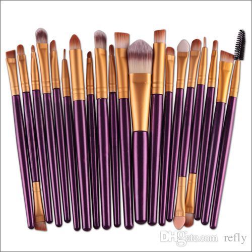 Pennelli trucco professionale Set Cosmetici viso ombretto pennelli Strumenti Kit trucco sopracciglio pennello Labbra Veloce spedizione DHL