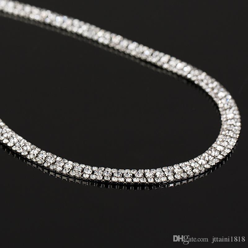 Set di gioielli da sposa eleganti di lusso con 1 paio di orecchini a forma di fiore 1 collana da sposa in pietra CZ