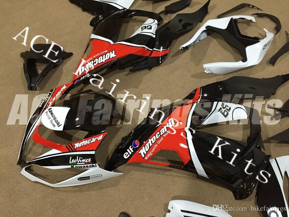 Three free beautiful gift new high quality ABS Injection fairing plates for Kawasaki Ninja ZX6R 599 636 2013-2016 nice white red black
