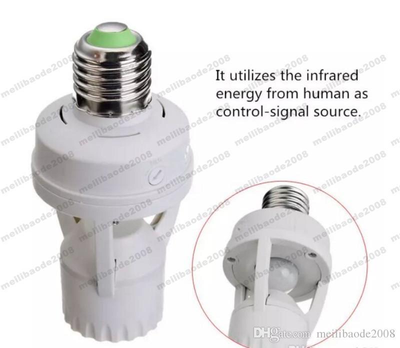 AC 110-220V 360 градусов PIR индукционный датчик движения ИК инфракрасный человек E27 разъем переключатель база светодиодные лампы лампа держатель MYY