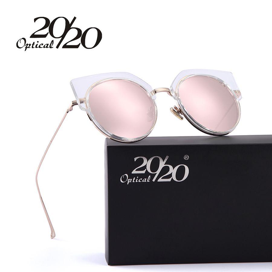 4797339c67fd6 Wholesale 20/20 Fashion Half Metal Sunglasses Women Original Brand Designer  Cat Eye Sun Glasses Female High Quality Vintage Oculos Custom Sunglasses  Heart ...