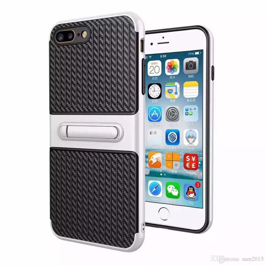 Traveler Handy Shell Kohlefaser Stent 2 in 1 Fall Schutzhülle für Samsung Note8 S8 S8 plus