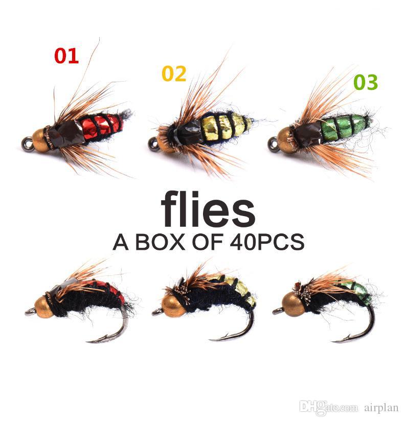 Fliegenfischen Fliegen Bionic Insekt Fischköder Künstlicher Köder mit Fisch Einfach Pesca Angeln Accessoires Haken Biss