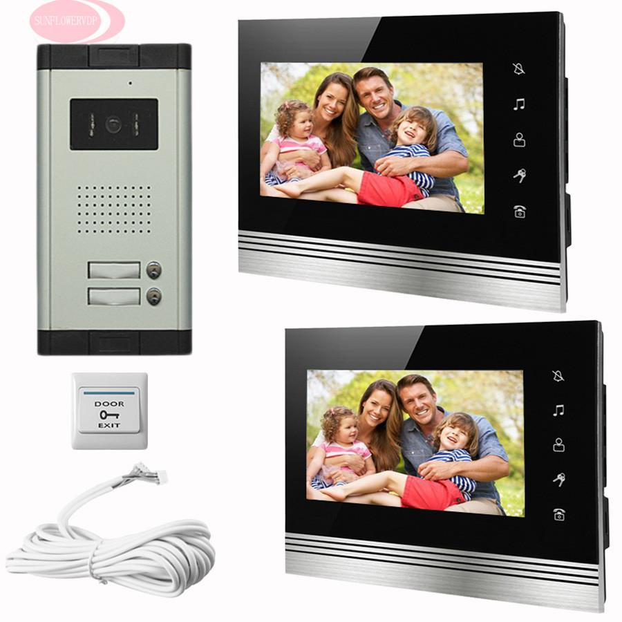 Sunflowervdp Doorphone For Video Intercom Touch Button Door Monitor 7\u0027\u0027 Color Lcd 2 Monitor Infared Night Vision Home Phone Kit Doorbell Security Doorbell ...  sc 1 st  DHgate.com & Sunflowervdp Doorphone For Video Intercom Touch Button Door Monitor ...