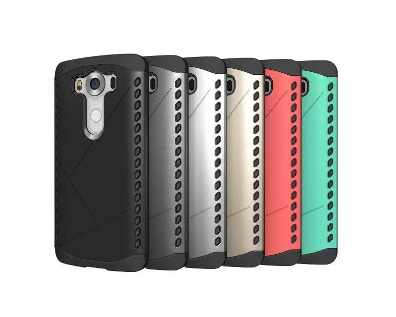 For LG V10 F600 G4 Stylus LS770 G4 G5 RUGGED HYBRIDTPU + PC Anti-Slip  Shockproof Shield Skin Robot Armor Case Cover 8Colors