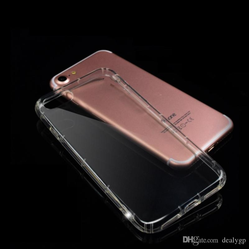 Transparent Clear TPU Shockproof Back Cover Slim Smart Phone Case Bulk Buy From China For Iphone 7 plus