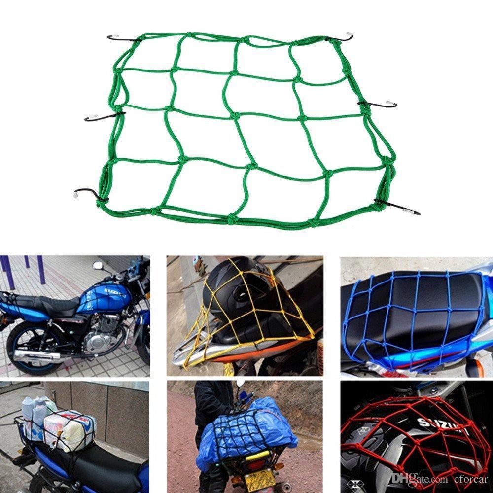 30 * 30cm Bagages Cargo Bunge Net sac 6 crochets vélo moto casque maille sac de transport