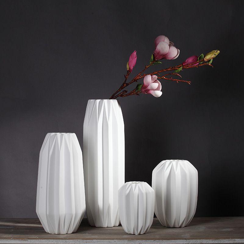 Chinese White Ceramic Vase Origami Vase Chrismas Present Wedding