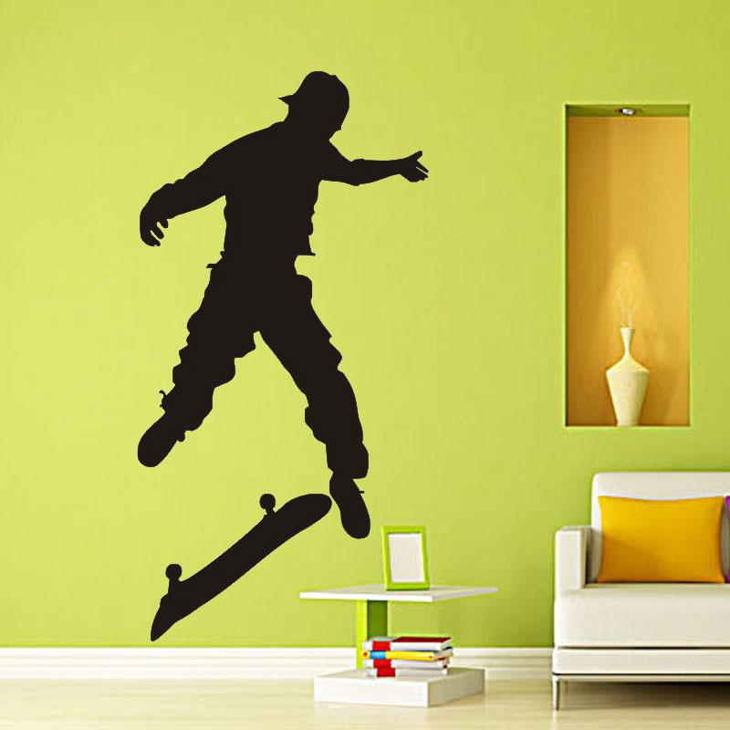 Diamond level Extreme sport Skateboard kids Wall Stickers For Kids Rooms Vinyl Home Decor Living Room Stickers On The Furniture
