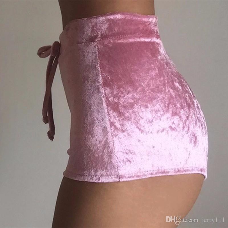 Flannel Velvet Shorts Women'S Sexy Slim Shorts Feminino Comfortable Pantalones Cortos Mujer Short Fitness Soft Sportwear LC530