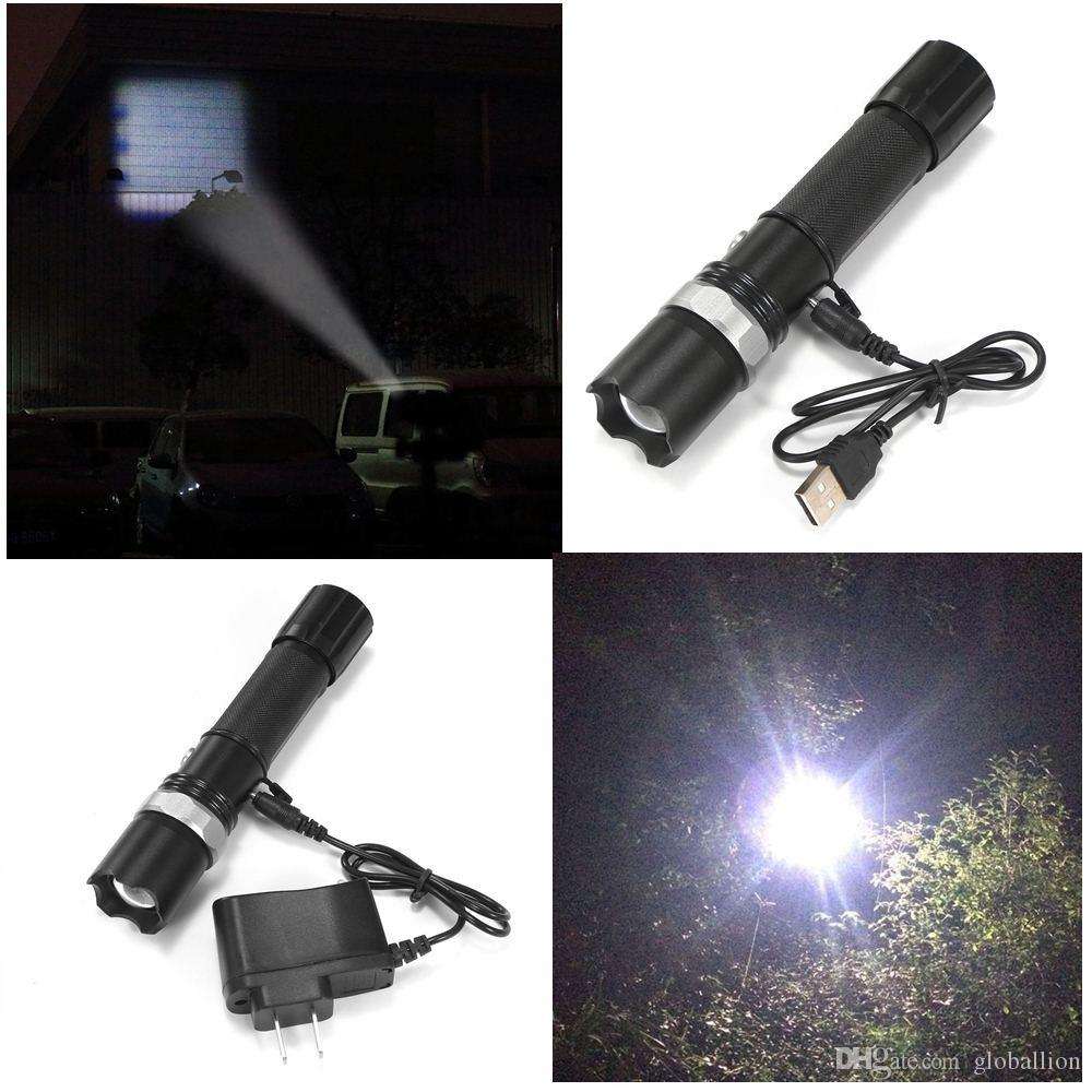 AloneFire TK107 3Mode Tactical Flash Light Torch Mini Zoom Rechargeable Powerful LED Flashlight AC Lanterna For Outdoor Travel