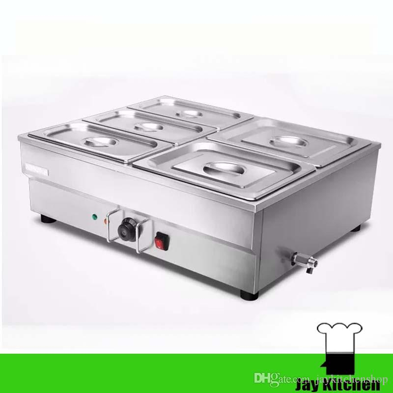 2018 Commercial Electric Food Warmer Stainless Steel Food Display Warmer  Container Bain Marie Counter Table Top Electric Food Buffet Pot Warmer From  ...