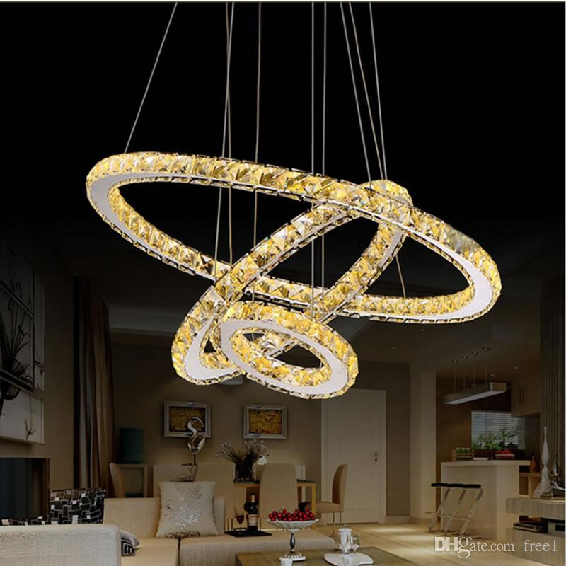 Compre modern chandelier led crystal ring chandelier crystal light compre modern chandelier led crystal ring chandelier crystal light fixture light suspension led lighting circles lmpara tri tone light a 15206 del free1 aloadofball Image collections