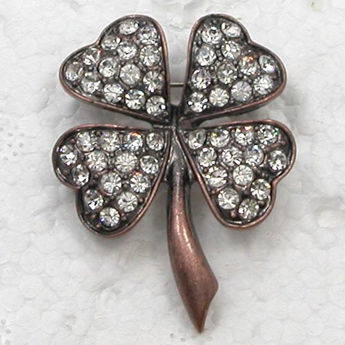 Wholesale Fashion Brooch Rhinestone Hot sell clover Pin brooches Costume Accessories jewelry gift C101821