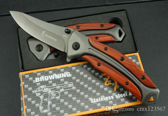 Ücretsiz kargo Browning-DA58 hızlı açılış 3 cr13mov katlama bıçak bıçak işleme Açık kamp survival profesyonel hızlı açılış