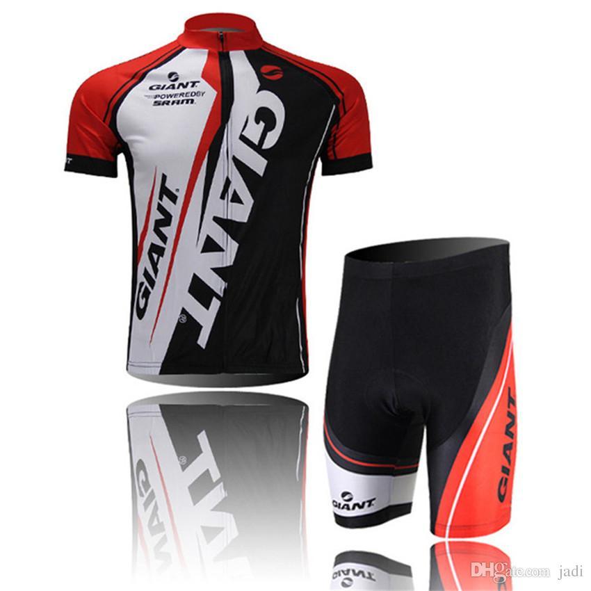2017 Giant Pro Team Ciclismo Jersey Ciclismo Gigante Shorts Jacket Culotte cortocircuitos Set Bicicleta Bicileta MTB Ropa Ciclismo Hombre