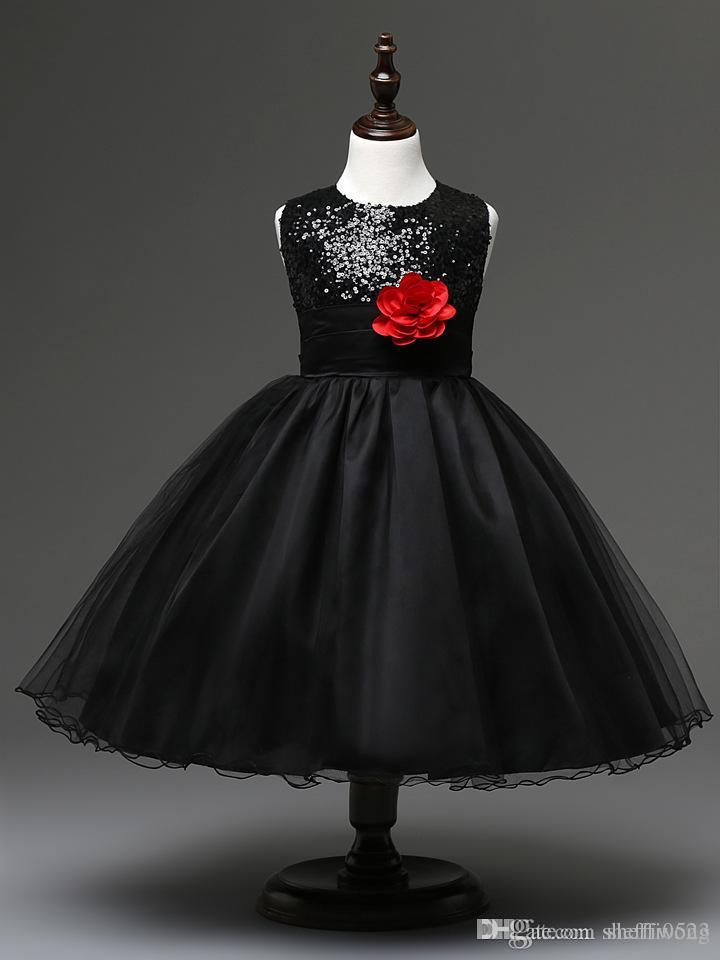 Compre Ventas Calientes Moda Vestidos De Niña De Flores Princesa Coreana  Vestido Largo Vestido De Fiesta Para Niños Con Nueve Colores Lentejuelas  Vestido De ... bf7da11ef833