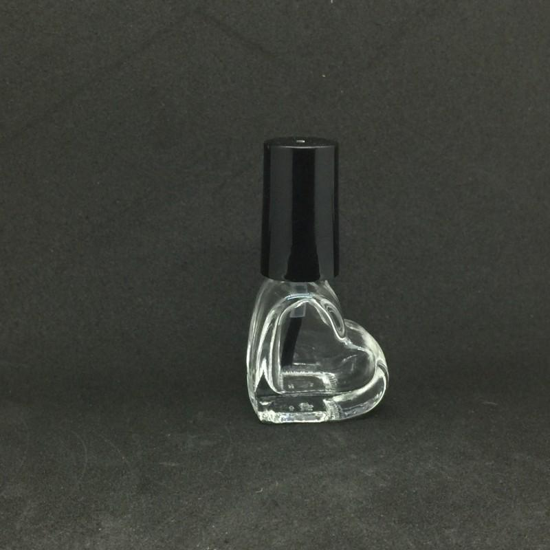 5ml Glass Empty Nail Polish Bottle Heart Round Square Apple Shape Transparent Cosmetic Container Clear Glass Nail Glue Bottle For Sample