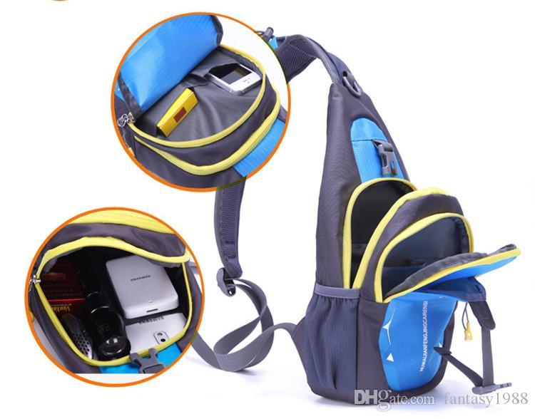 야외 장비 하이킹 캠핑 스포츠 사이클링 가방 남성 여성 트레킹 등산객 캐주얼 여행 팩 팩 다기능 단일 어깨 가방